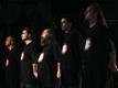 Οι μουσικοί της παράστασης (The War, Μάης 2003). Ο Στέλιος Φράγκος στα δεξιά